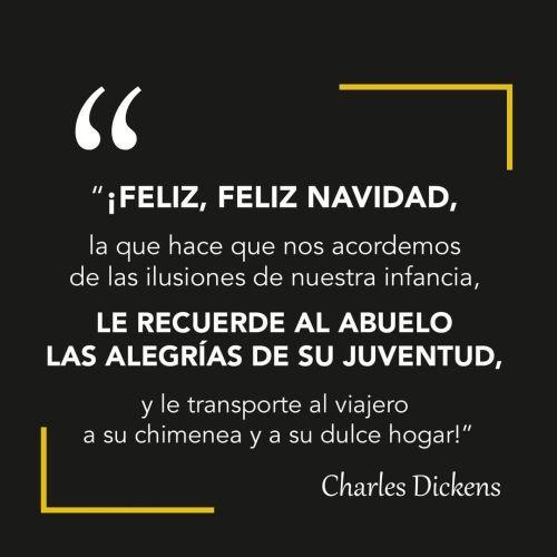 Frase de Navidad de Charles Dickens