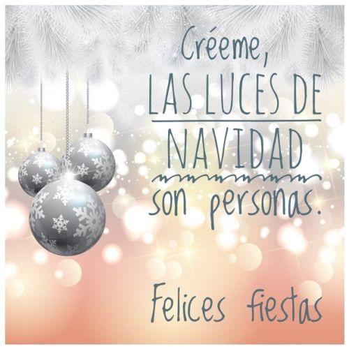 Créeme, las luces de Navidad son las personas