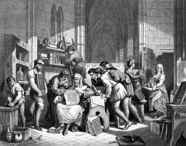 literatura-siglo-xv-impresion-istock
