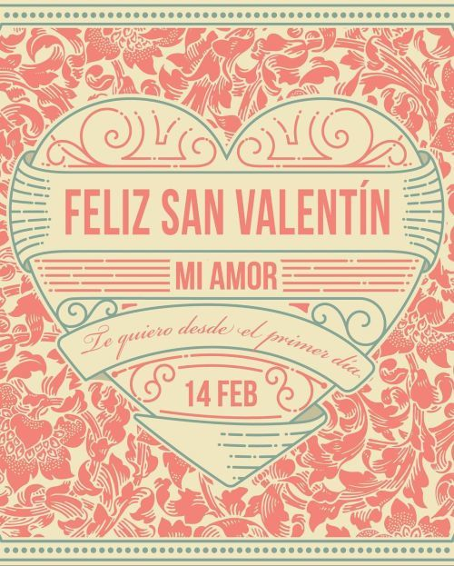 Tarjeta Feliz San Valentín mi amor