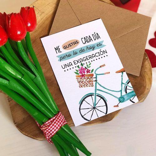 Tarjeta de San Valentín bicicleta