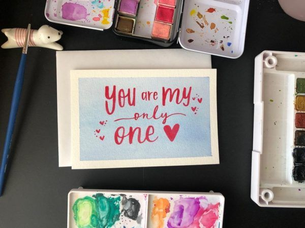 Tarjeta de amor you are my only one