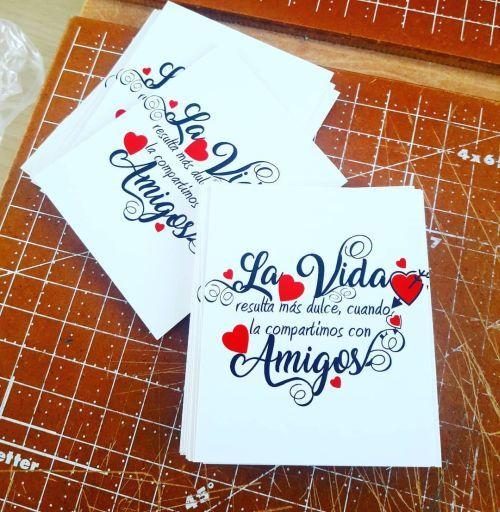 Tarjeta de San Valentín amigos