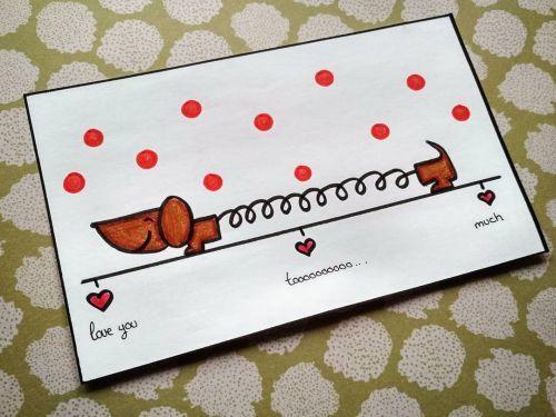 Tarjeta de San Valentín de perro