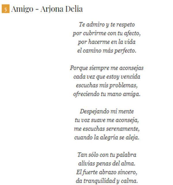 """Poema """"Amigo"""""""