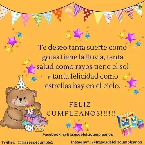 Tarjeta de cumpleaños oso con dulces
