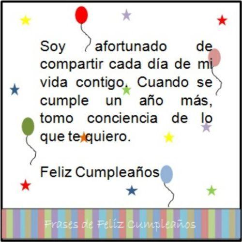 Feliz cumpleaños afortunado de tenerte