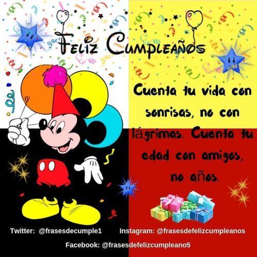 Tarjeta de cumpleaños de Mickey