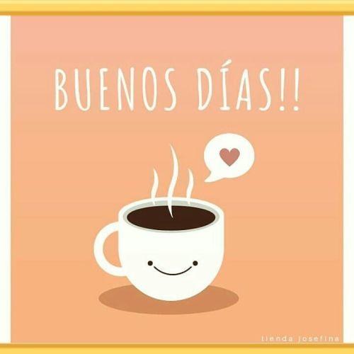Mensaje de Buenos días taza de café