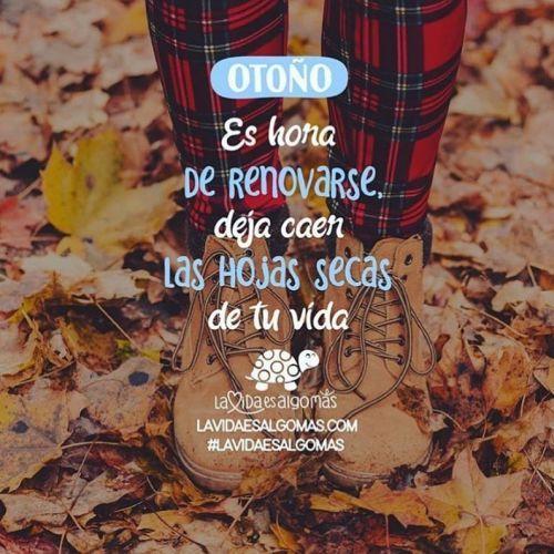 Frase de ánimo para otoño