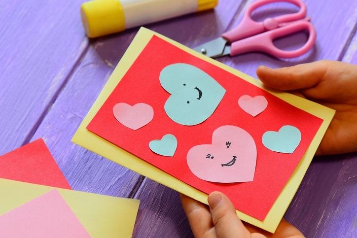 Tarjetas de amor para san valentin con cartulinas
