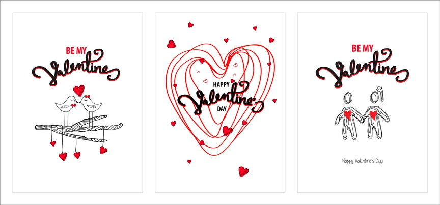 Tarjetas de amor para san valentin dibujos